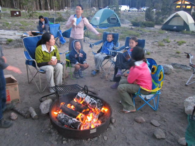 Campfire At Glacier Basin Campground Rocky Mountain Np