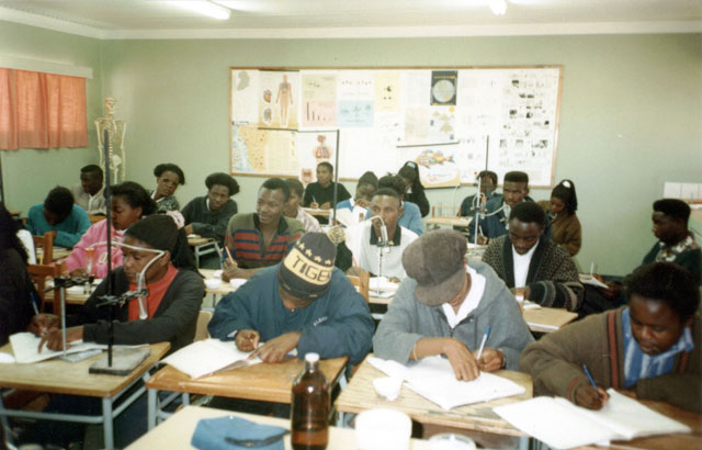 Students In Chemistry Class Ohangwena Namibia 1997