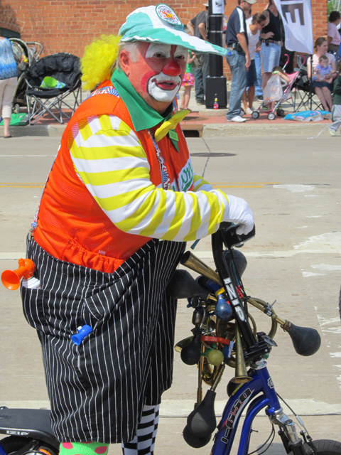 Clown on a Bike in Memorial