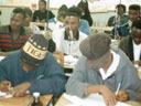 students in chemistry class, Ohangwena, Namibia, 1997