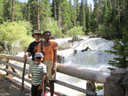 """Greg, Joanitha and Joachim at Wild Basin"", Rocky Mountain NP, Colorado, 2011"
