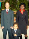 """Greg, Joanitha and Joachim at church on Christmas"", Fort Collins, Colorado, 2008"