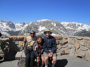"""Joanitha, Joachim and Greg at Forest Canyon overlook"", Rocky Mountain NP, Colorado, 2011"