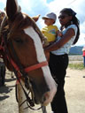 Joachim and Joanitha with horse, Estes Park, Colorado, 2007