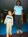 Joachim and Joanitha roller skating, Fort Collins, Colorado, 2010