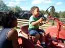 """Joachim on a tractor, Lee Martinez Park"", Fort Collins, Colorado, 2008"