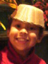 Joachim with a basket hat, Las Vegas, Nevada, 2009