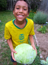 Joachim with his cabbage, Fort Collins, Colorado, 2014