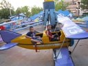 Joachim in an airplane at Elitch Gardens, Denver, Colorado, 2011