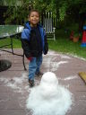 Joachim and a hailman, Fort Collins, Colorado, 2009