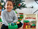 Joachim with Lincoln Logs, Fort Collins, Colorado, 2009