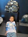 """Joachim by a large pyrite specimen, Denver Museum of Science and Nature"", Denver, Colorado, 2011"