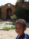 Joachim in a courtyard, Taos, New Mexico, 2009