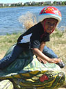 """Joachim on a turtle, Fossil Creek Park"", Fort Collins, Colorado, 2010"