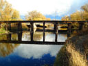 railroad bridge over the Poudre River, Fort Collins, Colorado, 2010